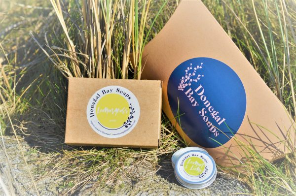 Soap and lip balm gift set
